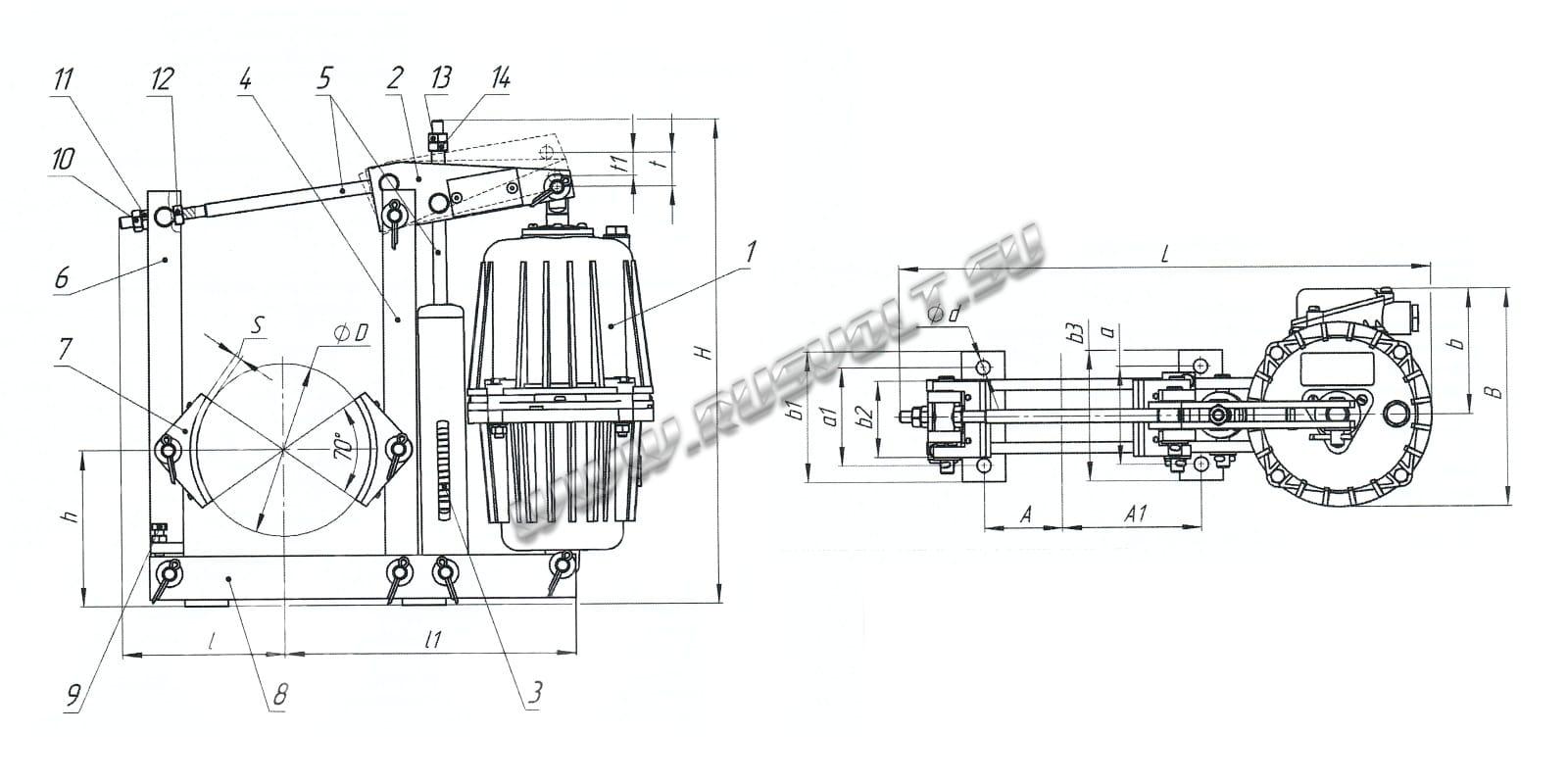 гидротолкатель схема подключения