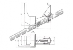 Креслення щіткотримача ДРПр1 (ДП, ДПЕ) 20х32